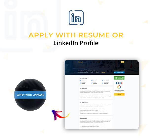 apply with linked in